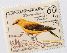 """""""1959 Czechoslovakian postage stamps designed by painter, illustrator, lettering…"""