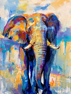 The Morning Walk Elephant Print Elephant Canvas Elephant Poster Elephant Home Elephant Wall Art Elephant Gifts Elephant Decorations by DimitriSirenkoArt Elephant Artwork, Elephant Poster, Elephant Canvas, Elephant Print, Elephant Gifts, Elephant Paintings, Elephant Elephant, Colorful Elephant, Elephant Tattoos