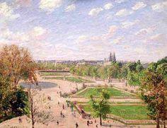 Les Tuileries un matin de printemps par Camille Pissarro 1899