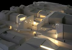 Model making: architectural model of a cultural center. Architecture Logo, Architecture Portfolio, Concept Architecture, Valencia, Zaha Hadid Buildings, Arch Model, Cultural Center, Apartment Design, Minimalist Design