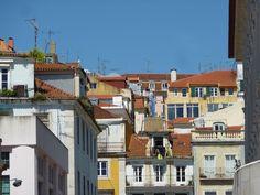 lisbon red orange roof tops