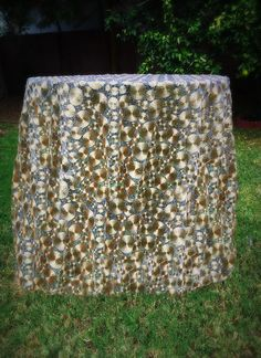 This gorgeous Filigree intricate gold metal designed into delicate swirls is so unique and decadent! It drapes beautifully on tables and looks amazing on dark wood grains! It will transform your home or event with its elegant charm!