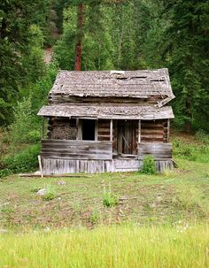 I'm sure this old abandoned little house has a few stories to tell.