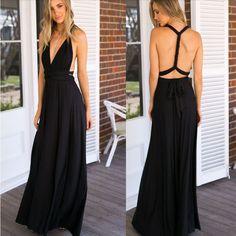 Stylish Open Back Women Long Maxi Dress | Daisy Dress for Less | Women's Dresses & Accessories