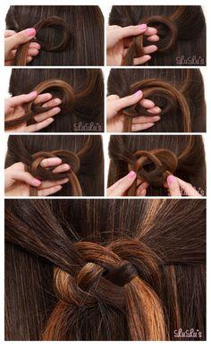 half up Celtic knot braid