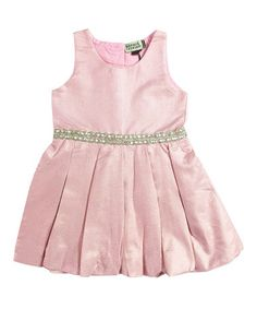Another great find on #zulily! Blush & Gold Pin-Dot A-Line Dress - Infant, Kids & Tween #zulilyfinds