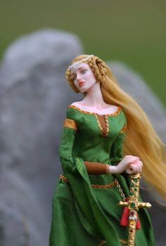 Miniature doll by Anna Hardman
