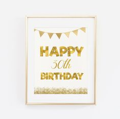 Happy 30th Birthday Printable Birthday Sign Dirty by BaloeDesigns