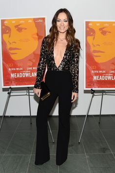 Olivia Wilde in a Michael Kors Collection Spring 2016 jumpsuit - New York  Screening of   baec45c29