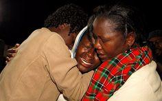 La estudiante cristiana Cynthia Cheroitich sobrevivió a la masacre en Garissa University College en Kenia por meterse en un armario y esconderse debajo de una pila de ropa.