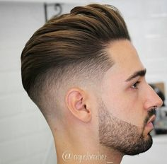 New Hairstyles Cool Coiffure Homme 2018 Degrade Avec Trait #hairstyles  Corte De Pelo