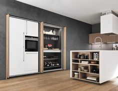 Fitted kitchen with island SINTESI.30 PENINSULA - Comprex