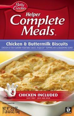 Betty Crocker Helper Complete Meals Chicken & Buttermilk Biscuits: 3 grams per serving