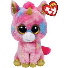 TY Beanie Boos FANTASIA the Unicorn (Glitter Eyes) (LARGE Size 17... ($11) ❤ liked on Polyvore featuring accessories, hats, beanie cap hat, beanie hat, unicorn beanie hat, glitter hats and beanie cap