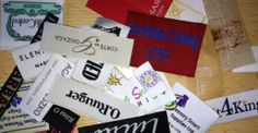 Various types of woven labels, custom garment labels http://www.woven-printed-garment-labels.com