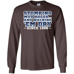 Stone Cold Steve Austin Stomping Mudholes Authentic T-Shirt ()-01 LS Ultra Cotton Tshirt