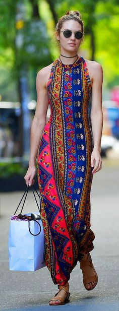 Everyday New Fashion: Beautiful Sleeveless Summer Maxi Dress