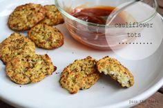 Cauliflower Tots - Gluten free, Grain free