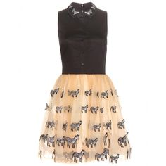 Alice + Olivia - Preena zebra embellished dress - Alice + Olivia has got feminine charm down to a T. The 'Preena' dress combines a black cotton top with a blush net overlay, which is embellished with a cute all-over zebra appliqué for full-on girly-girl appeal. Style for casual lunch dates with a denim jacket and ballerina flats. seen @ www.mytheresa.com