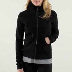 Lululemon Scuba Hoodie The ever famous with its humongous logo in the hood! It's a definite eye catcher! In gently used condition. lululemon athletica Jackets & Coats
