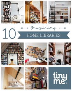 10 Inspiring Home Libraries ~ Tinyme