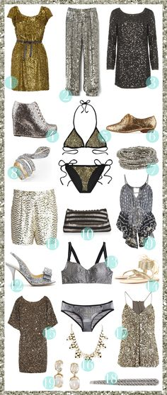 """um yeah... this is what I """"would-if-I-could"""" pack for a Vegas trip!  sparkle!!!"""