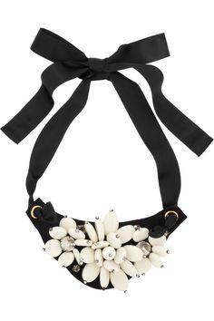 Marni|+ V&A Swarovski crystal and resin necklace|NET-A-PORTER.COM