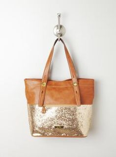 Jessica Simpson Jet Setter Glitter Tote, I saw a woman with this today and it was really cute! Reminds me of all those two toned shoes