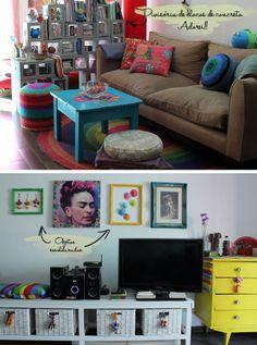 O espaço é pequeno, mas sempre cabem boas ideias!   http://apartamento304.blogspot.com.br/2012/08/o-espaco-e-pequeno-mas-sempre-cabem.html#