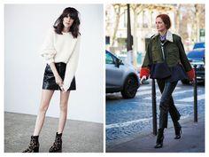 Кожаные юбка и брюки