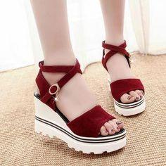 #Spring #AdoreWe #YesStyle - #Weiya Ankle Strap Wedge Shoes - AdoreWe.com