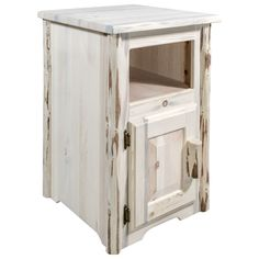 Need a Rustic End Table? We offer a wide variety of unique rustic end tables at a fair price. Shop Our Collection Today. End Tables For Sale, Cool Tables, Living Room Shop, Living Room Chairs, Rustic End Tables, Bathroom Shop, Storage Spaces, Storage Area, Wooden Doors