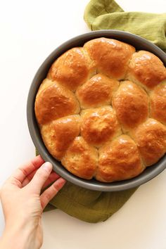 7-Ingredient Vegan Dinner Rolls! Fluffy, buttery, and perfect #minimalistbaker