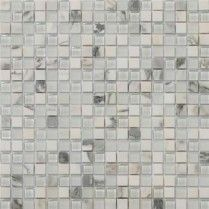 Emser Tile Lucente Stone Blends 5/8x5/8 Ambrato (A unique blend of glass and marble makes a great compliment to any backsplash or accent within a blath!  So Chic!)