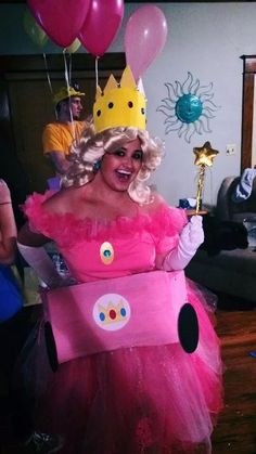 Princess peach homemade costume! Mario Kart Halloween
