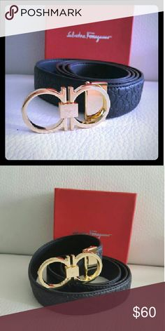 Nice belt black  size 32/46 adjustable New come with box Ferragamo Accessories Belts
