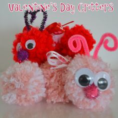 This site gives step by step directions for making these cute critters. Great for a Valentine Day party craft!