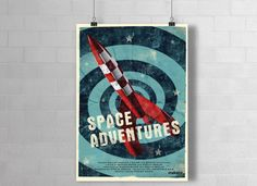"Digitaldruck - Plakat ""Space Adventures""   von makaba-Design via DaWanda.com"