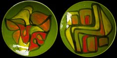 Rob's Poole Pottery Blog: Green Delphis Plates, No. 4