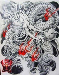 Dragon Tattoo Colour, Dragon Tattoo Back, Chinese Dragon Tattoos, Dragon Half, Torso Tattoos, Full Back Tattoos, Latest Tattoos, Asian Tattoos, Japan Tattoo