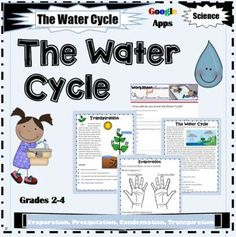 The Water Cycle Activities for Earth's Systems GOOGLE APPS by Worksheet Place Water Cycle Activities, Teaching Activities, Teaching Science, Vocabulary Exercises, Narrative Writing, Free Worksheets, Graphic Organizers, Cycling, Apps