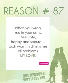 Reasons why I love you I'm anxious you say its ok… I feel like my troubles are over now because you have taken them over. Only true love can do this. Sweet Love Quotes, Beautiful Love Quotes, Love Yourself Quotes, Reasons Why I Love You, Say I Love You, 52 Reasons, 365 Jar, Happy Birthday My Love, Frases