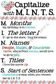Such a cute way to remember Capitalization!!UK-Eduacation Experiment Site @ http://www.smartyoungthings.co.uk