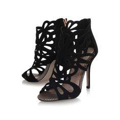 Flutter Gold High Heel Sandals By Miss KG | Kurt Geiger