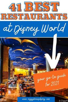 This is a list of the best restaurants at Disney World from Ziggy Knows Disney! You will find anything you could ever want to eat at the most Magical Place on Earth. If you are planning a vacation to Disney World, then make sure you take this list of the best places to dine while at Walt Disney World. Disney World Secrets, Disney World News, Disney World Tips And Tricks, Disney Tips, Disney World Vacation Planning, Walt Disney World Vacations, Disney Parks, Trip Planning, Disney Day
