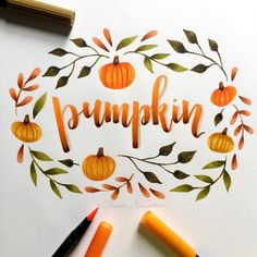 """1,995 Me gusta, 34 comentarios - Alisse Courter (@alissecourter) en Instagram: """"this is for day 4 of #letterwithelle with @elle_letters and today's prompt is pumkin I'm loving…"""""""