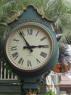 Clock in St Augustine