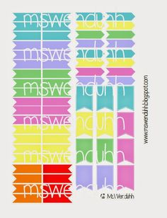 Planner Flags Stickers (Free Printable) - Wendaful