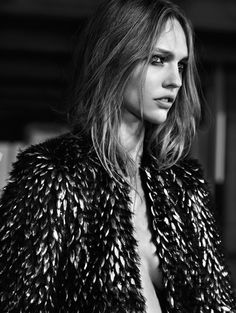 Sasha Pivovarova by Hedi Slimane for Saint Laurent Pre Collection Campaign Spring Summer 2013 2