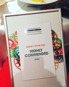 """We are buzzing to announce that we have won """"Highly Commended Agency Of The Year"""" at the awards 🎈🎈🎈 Innovation, Investing, Awards"""